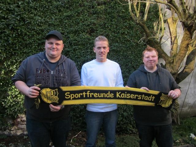 "Unser Präsidium v.L.n.R.: René Deutz (Vizepräsident), Marcel Horn (Schatzmeister) und Christopher ""Sisi"" Smeets (Präsident)"