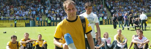 Matthias Lehman bei seinem letzten Spiel für die Alemannia